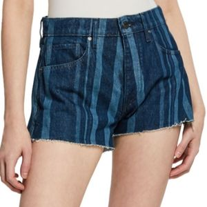 Levi's made & crafted high rise button fly shorts